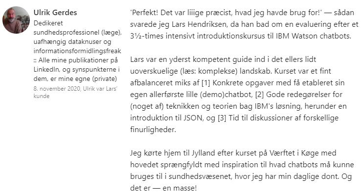 IBM Watson Kursus for Sydvestjysk Sygehus
